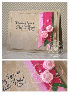 wishing you by Mariana Grigsby Card Tags, I Card, Scrapbook Cards, Scrapbooking, Paper Light, Card Maker, Card Sketches, Creative Cards, Flower Cards