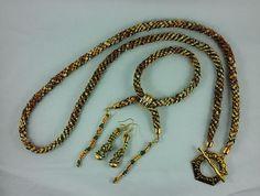 Necklace Earrings Bracelet: SSHG  Woven Threads