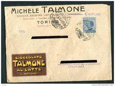 STORIA POSTALE PUBBLICITA CIOCCOLATO MICHELE TALMONE TORINO ANNI 20 CHOCOLAT
