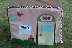 no sew fabric play house, to cover a card table or other table. cute easy tute