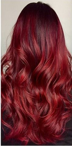 87 unique ombre hair color ideas to rock in 2018 - Hairstyles Trends Caramel Ombre Hair, Brown Ombre Hair, Burgundy Hair, Purple Hair, Shades Of Red Hair, Bright Red Hair, Crimson Red Hair, Cherry Red Hair, Color Fantasia