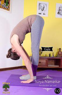 Uttanasana *Transição: suba alongando os braços e a coluna para frente e para cima