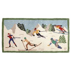 Shop Black Forest Decor right now and get savings up to on wildlife rugs, including this 2 x 4 New Mountain Sports Hooked Wool Rug! Ski Decor, Black Forest Decor, Nautical Flags, White Whale, Hand Hooked Rugs, Western Decor, Rug Hooking, Wool Rug, Skiing