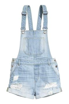 Salopette short en denim | H&M