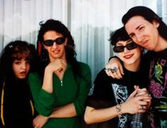 Marilyn Manson and Missi Romero. Plus Twiggy Ramirez and his girlfriend (I forget her name.)