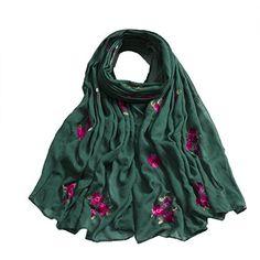 2d557816cfa84 LANSITINA Women鈥檚 Embroidered Cotton Shawls Fashion Scarves