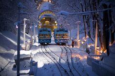 Mountain tram in Kiev