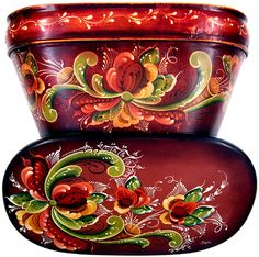 Rosemaling project taught and designed by Joan Dahl for South Korea Seminar conducted by her