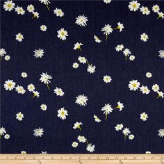 Art Gallery Denim Print Ragged Daisies from @fabricdotcom  From Art Gallery Fabrics, this Smooth Denim fabric is part of the Denim Studio collection at AGF and it is lightweight and soft. This series of premium substrates, brings you a whole new approach to create your projects. An array of prints and textures on trendy colors are ideal for quilting, apparel, home decor and accessories. Mix and match to suit your taste! Colors include denim, white and yellow.
