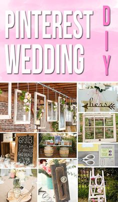 Planning a Pinterest Wedding DIY? Look no further! Check out these amazing DIY wedding tips, tricks and more!