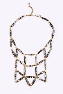 Geo Beaded Necklace - UO
