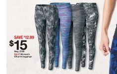 Target: Ladies' C9 Print Leggings for $12.50 each