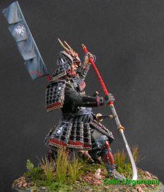 Samurai with Naginata 120mm
