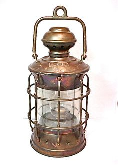 Antique Brass Ships Lantern EMORY DOUGLASS ANCHOR by magicmuti, $450.00