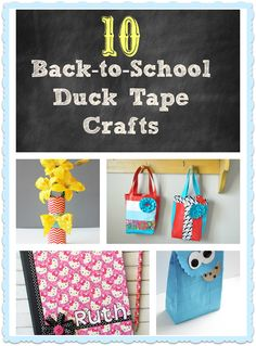 I Dig Pinterest: 10 Awesome Duck Tape® Back-to-School Crafts