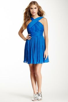 BB Dakota Kiefer Pleated Crinkle Georgette Dress by BB Dakota on @HauteLook