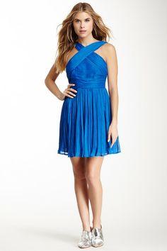 BB Dakota Kiefer Pleated Crinkle Georgette Dress by BB Dakota on @HauteLook