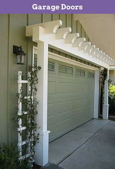 Garage Door Makeover Diy - Magnetic Garage Door Hardware. #garageentrance, #garagefloor, #dyigarage. Read information on Garage Doors  Check the webpage to read more... Magnetic Garage Door Hardware, Brown Garage Door, Garage Entry Door, Garage Door Makeover, Garage Door Opener, House Entrance, Trellis Ideas, Wood Trellis, White Trellis
