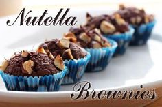 Divine Nutella brownie cupcakes with just 3 ingredients 3 Ingredient Nutella Brownies, Easy Nutella Brownies, Nutella Cupcakes, Brownie Cupcakes, Cupcake Cakes, Nutella Muffins, Nutella Cookies, Homemade Brownies, Mini Cupcakes