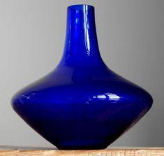 Vintage 60-70's ALFRED TAUBE Ink Blue UFO Glass Vase German Art Fat Lava Era #AlfredTaube