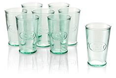 S/8 Recycled-Glass Jus-de-Fruits Glasses