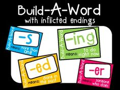 2nd Grade: Inflectional Endings on Pinterest | Inflectional Endings ...