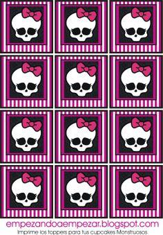 Monster High Party Printables | Monster High.Imprimibles gratis.