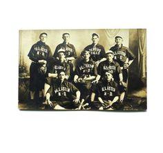 Antique Baseball Team Players Photograph Williston North Dakota RPPC
