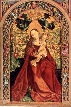 Madonna del roseto ( 1473 ) - Martin Schongauer
