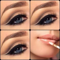 Learn How To Apply Eye Shadow Makeup  On  Neutral Eye , Green Eyes, Dark Skin eye, Blue Eyes