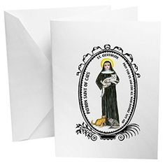 St Gertrude Patron of Cats Set of 12 Note Cards
