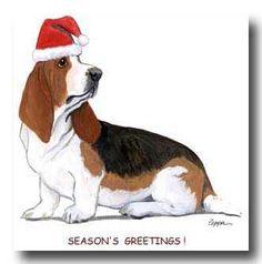 Basset Hound christmas cards