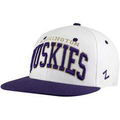 NCAA Zephyr Washington Huskies White-Purple Superstar Snapback Adjustable Hat Zepher Graf-X. $21.95