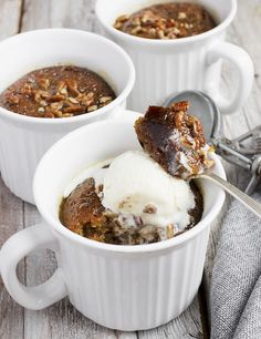 Sticky Toffee Pudding Mug Cakes- Sticky Toffee Pudding Mug Cakes Sticky Toffee Mug Cakes (Microwavable too). - Sticky Toffee Pudding Mug Cakes- Sticky Toffee Pudding Mug Cakes Sticky Toffee Mug Cakes (Microwavable too). Mug Recipes, Pudding Recipes, Cake Recipes, Steak Recipes, British Desserts, Great Desserts, Mini Desserts, Quick Dessert, Party Desserts