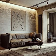 """Apartment 83 by Vladislav Yalovitsky from Ukraine. Loft Interior, Room Interior Design, Living Room Modern, My Living Room, Budget Home Decorating, Interior Decorating, Design Loft, Sweet Home, Architecture Wallpaper"