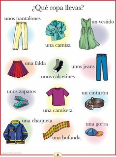 Introduce clothing words with this colorful 18 x 24 in. poster that: - includes a free guide with teaching suggestions and practice worksheets - is sent flat (except international orders)