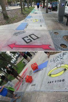 Monopoly sidewalk!
