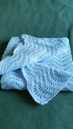 Crochet Baby BlanketCrochet Light Blue Baby by CrochetbyKathie