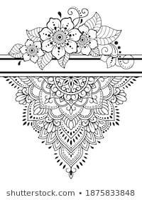 Tatuaje Mandala Floral, Colorful Mandala Tattoo, Half Mandala Tattoo, Mandala Tattoo Design, Tattoo Designs, Mandala Art Lesson, Mandala Drawing, Love Hate Tattoo, Cute Coloring Pages