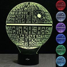 Star Wars Death Star 3D illusion Night light LED 7 color change desk table lamp Lighting Decor Gadget Lamp Awesome Gift  http://stylexotic.com/star-wars-death-star-3d-illusion-night-light-led-7-color-change-desk-table-lamp-lighting-decor-gadget-lamp-awesome-gift/