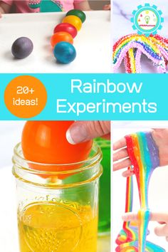 You won't want to miss these amazing, happy rainbow science experiments for kids. So many ways to learn with rainbows! Rainbow Milk, Rainbow Slime, Rainbow Crafts, 1st Grade Science Fair, Physics Lessons, Homeschool Science Curriculum, Rainbow Drawing, Science Fair Projects, Science Experiments Kids