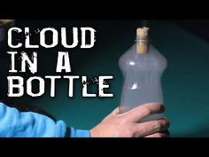 Cloud in a Bottle experiment!  Great for teaching about weather