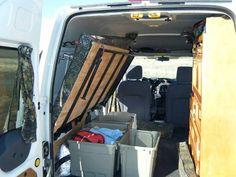 Simple Raisable Bed Platform w/ Storage Underneat Mobile Living, Camping Survival, Folded Up, Camper Van, Bed Platform, Home Appliances, Campers, Interior, Vans