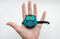 Felt owl headbant by fineDollyLolly on Etsy, $20.00