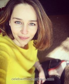Emilia Clarke No Makeup - She looks beautiful without makeup as well.