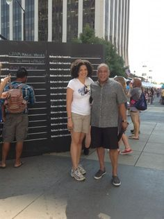 Before I Die in Raleigh, NC for SPARKcon (Sept 15-16, 2012)    Project coordinator Kim Curry-Evans with Mitchell Silver