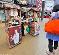 Soba Yatai - Japanese Edo style noodle portable vending stall in Asakusa, Tokyo