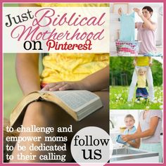 Come follow the community board for biblical motherhood.