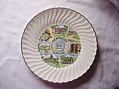 Vintage Kentucky Souvenir Plate-1960s