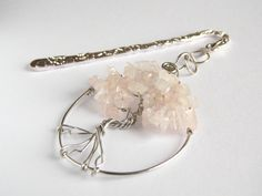 Bookmark Tree of Life   Rose Quartz Semi Precious Stone   FREE UK DELIVERY   Handmade by Phillipa Jane Designs   Gift for Keen Book Reader